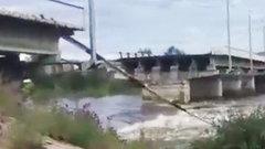 В Чите обрушился мост (ВИДЕО)