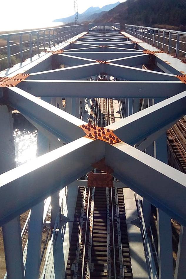 Последние работы по реконструкции моста на Сахалине ГК СК Мост Руслана Байсарова