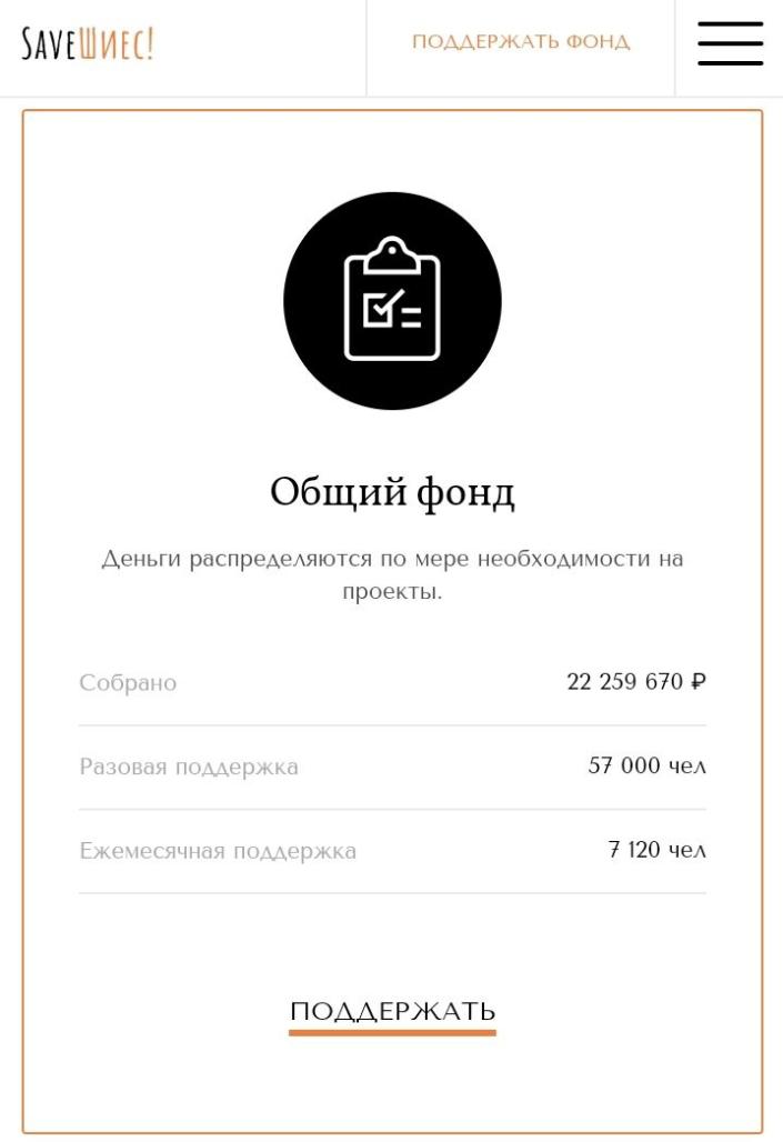 Скриншот сайта saveshies.ru, сделанный несколько дней назад.