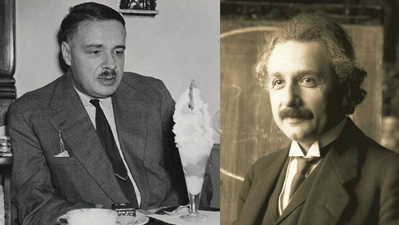 Альберт Эйнштейн и его сын Эдуард