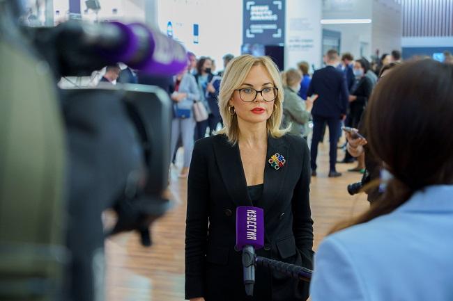 Екатерина Тутон на ПМЭФ рассказала о росте целевых отчислений от деятельности Столото на развитие спорта